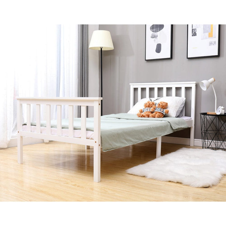 Classic Single Bed In White