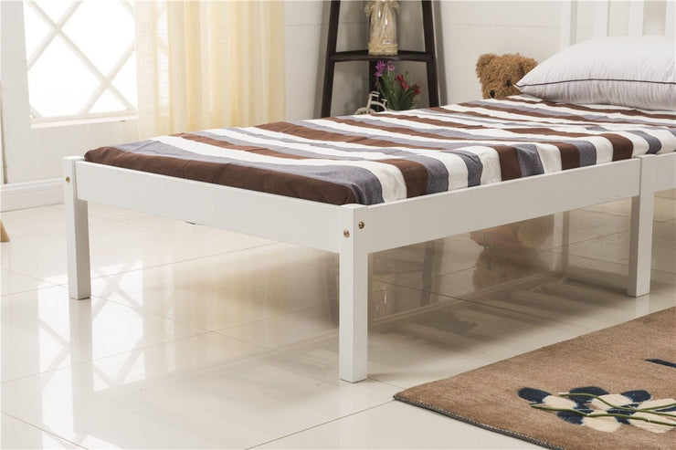 3FT Single Bed Frame White Wooden Finish - Furniture Maxi