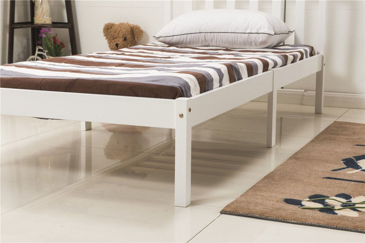 3FT Single Bed Frame Natural Wooden Finish, Bedroom Furniture, Furniture Maxi, Furniture Maxi