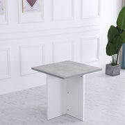 Kanso Stowaway Dining Table Set In Grey & White