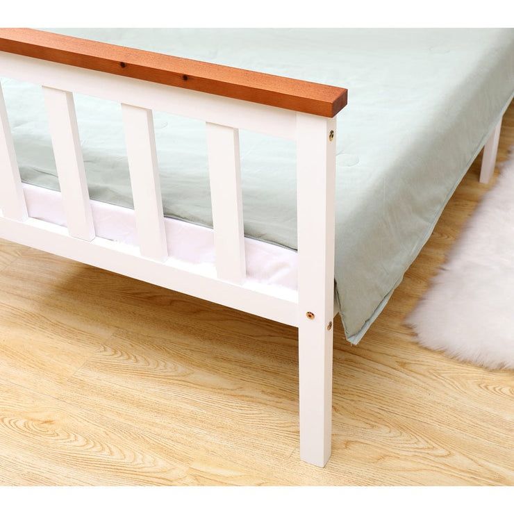 Classic Single Bed In Oak & White