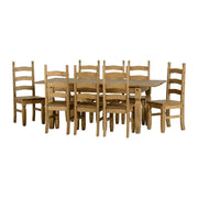 Almos Extending Dining Table In Waxed Pine - Furniture Maxi