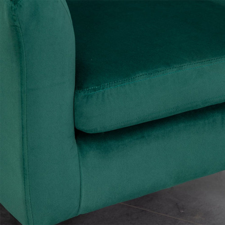 Ascot Velvet Tub Chair In Green