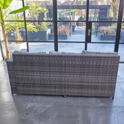 Barcelona 9 Seater Rattan Garden Furniture Dining Set In Grey - Furniture Maxi