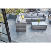 Vancouver 9 Seater Corner Rattan Garden Set In Grey, Garden Furniture, Furniture Maxi, Furniture Maxi