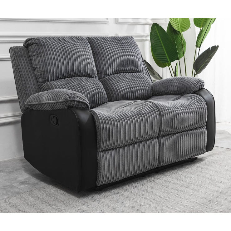 Boston 3+2 Grey Plush Fabric Recliner Sofa Set
