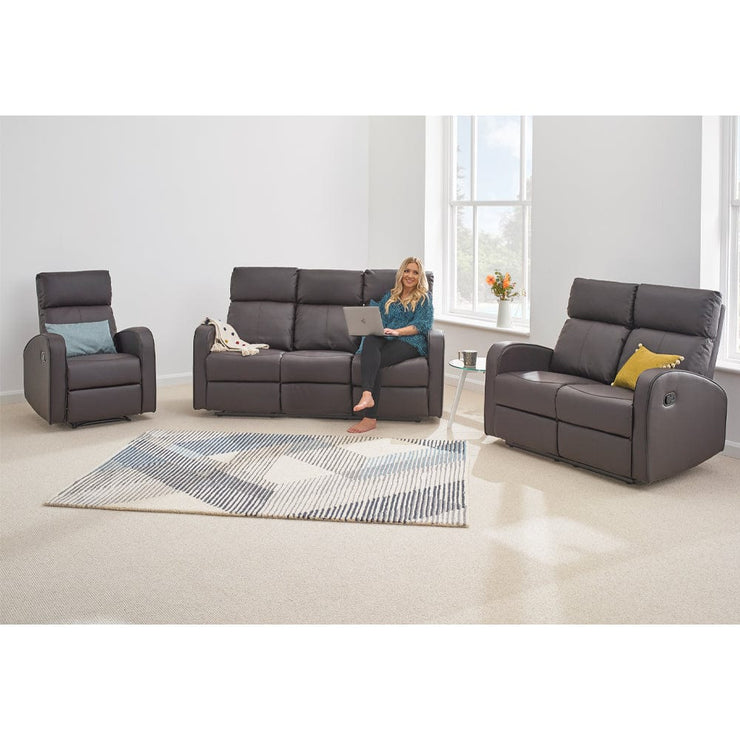 Boston 3+2+1 Brown Leather Recliner Sofa Set, Living Room Furniture, Furniture Maxi, Furniture Maxi