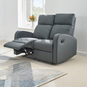 Boston 3+2+1 Dark Grey Leather Recliner Sofa Set, Living Room Furniture, Furniture Maxi, Furniture Maxi
