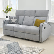 Boston 3+2 Light Grey Fabric Recliner Sofa Set - Furniture Maxi
