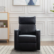Boston Black Leather Recliner Armchair - Furniture Maxi