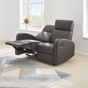 Boston Brown Leather 2 Seater Recliner Sofa - Furniture Maxi