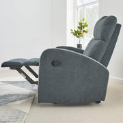 Boston Dark Grey Fabric Recliner 2 Seater Sofa - Furniture Maxi