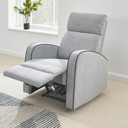Boston Light Grey Fabric Recliner Armchair - Furniture Maxi