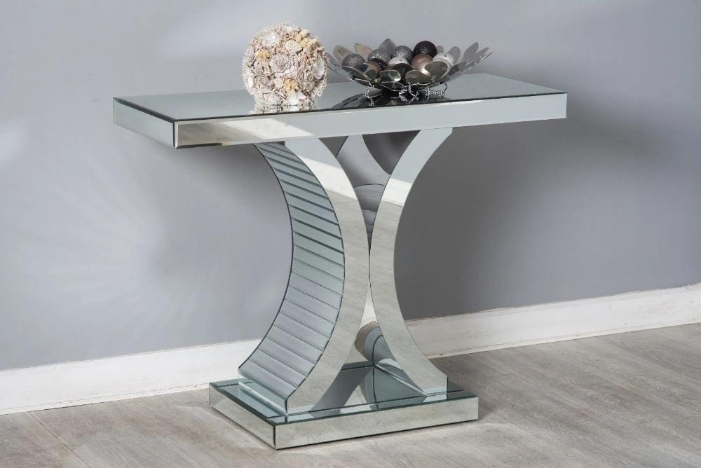 Mirrored C Shape Console Hallway Side Table | Furniture Maxi
