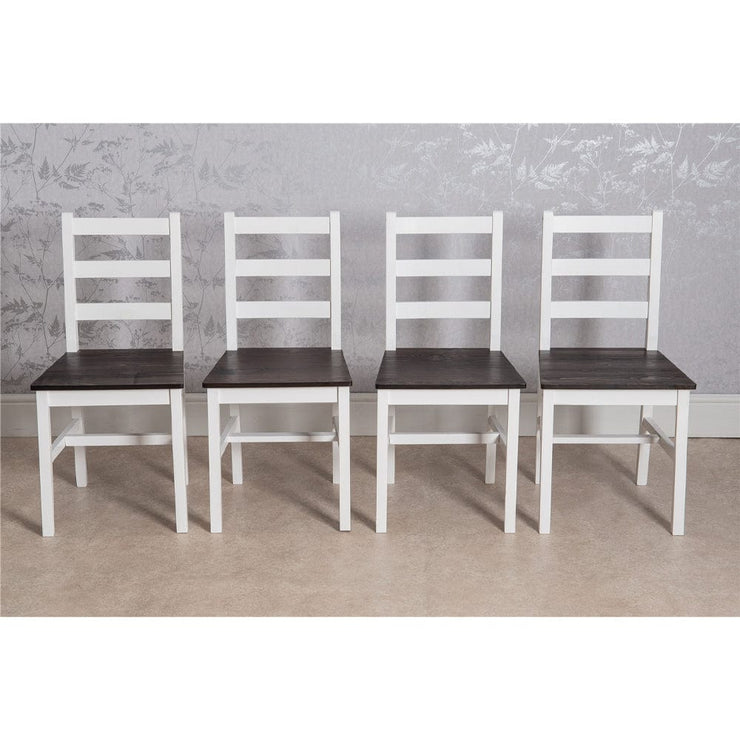 Epping Dark Pine Medium Dining Table Set with 4 Chairs & Bench
