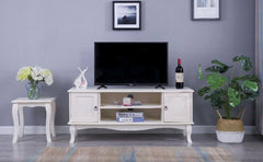 Estelle White TV Unit Stand Living Room Furniture Furniture Maxi