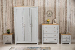 4 Piece Bedroom Set Grey and Oak Bedroom Furniture Furniture Maxi