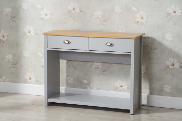 Heritage Grey and Oak Console Table - Furniture Maxi