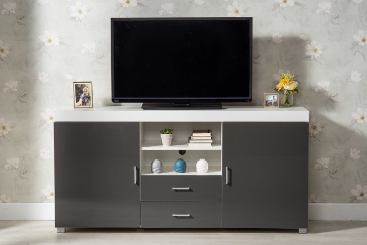 Large Grey and White TV Stand, Living Room Furniture, Furniture Maxi, Furniture Maxi