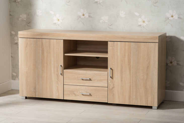Hastings Large Oak TV Stand - Furniture Maxi
