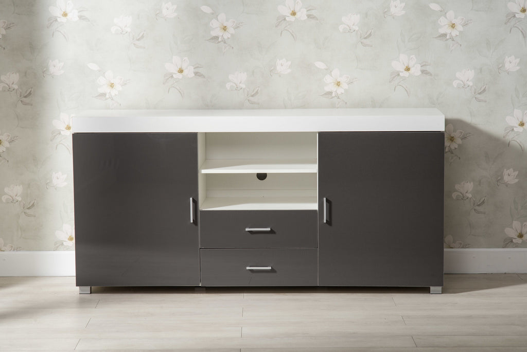 Large Grey and White TV Stand | Furniture Maxi