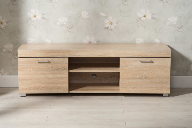 Hastings Oak 2 Door TV Stand - Furniture Maxi