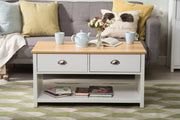 Heritage White and Oak Coffee Table - Furniture Maxi
