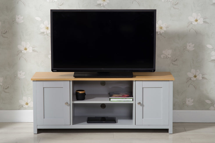 Heritage Grey and Oak TV Stand - Furniture Maxi