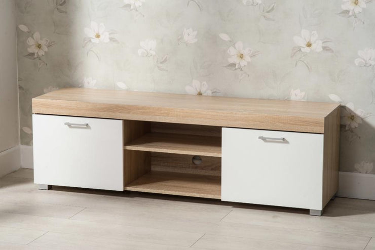 Hastings White and Oak TV Stand - Furniture Maxi