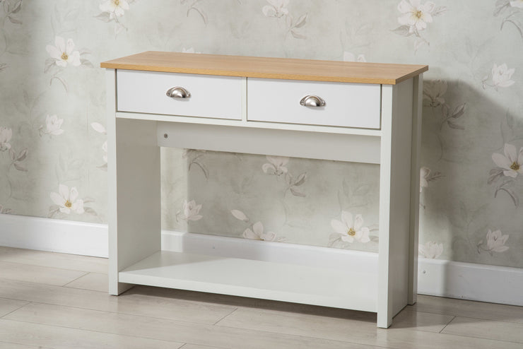 Heritage White and Oak Console Table - Furniture Maxi
