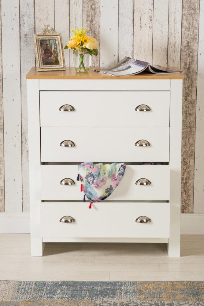 Heritage 4 Drawer Chest White Bedroom Furniture, Bedroom Furniture, Furniture Maxi, Furniture Maxi