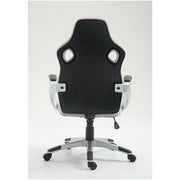 Grey & Black Faux Leather Gaming Chair - Furniture Maxi