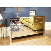 Glamour Mirrored 6 Drawer Chest, Bedroom Furniture, Furniture Maxi, Furniture Maxi