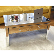 Glamour Mirrored Coffee Table with Drawers
