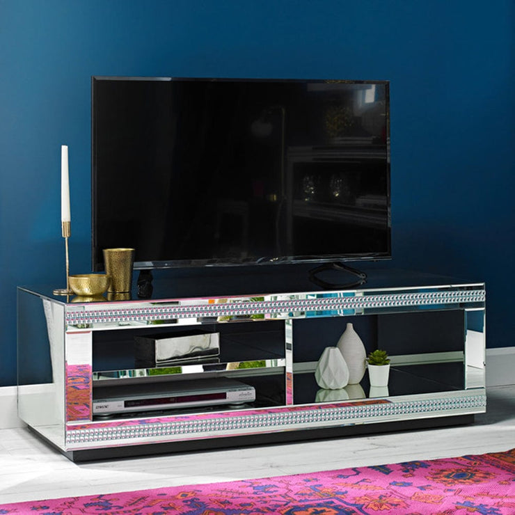 Glamour Mirrored TV Unit - Furniture Maxi