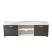Hastings Grey and White TV Stand - Furniture Maxi