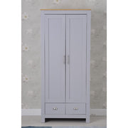 Heritage 2 Door 2 Drawer Wardrobe in Grey and Oak