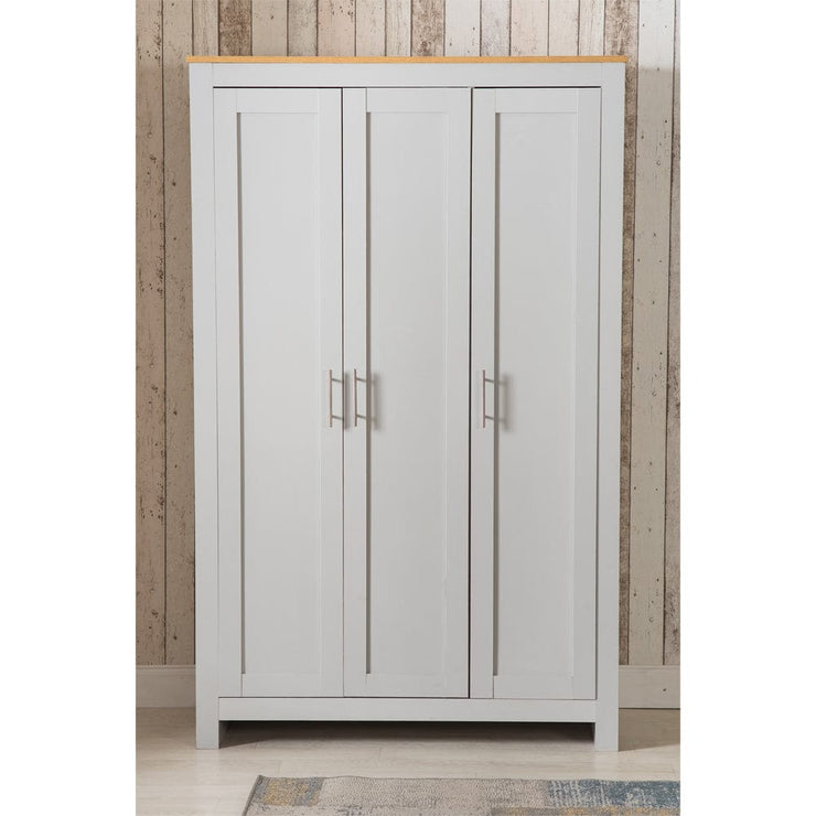 Heritage 3 Door Wardrobe In Grey