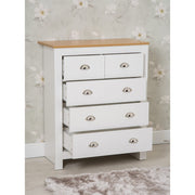 Heritage 3 Piece 6 Draw Chest and Bedside Tables Set In White - Furniture Maxi