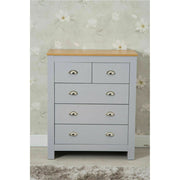 Heritage 3 Piece Tall Chest and Bedside Tables Set In Grey - Furniture Maxi