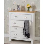 Heritage 3+2 Chest Of Drawers In White