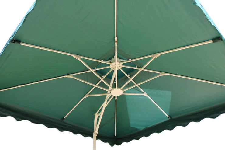 Rectangular Aluminium Parasol - Green - Furniture Maxi