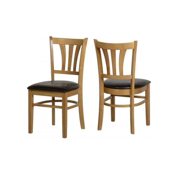 Jacob Natural Oak Veneer Dining Chair (Set Of 2) - Furniture Maxi