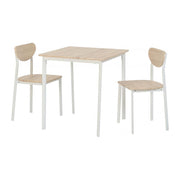 Jaylin Small Dining Set In Light Oak Effect - Furniture Maxi
