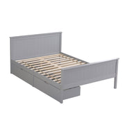 Lund Grey Wooden 2 Drawer Storage Bed - 4ft6 Double
