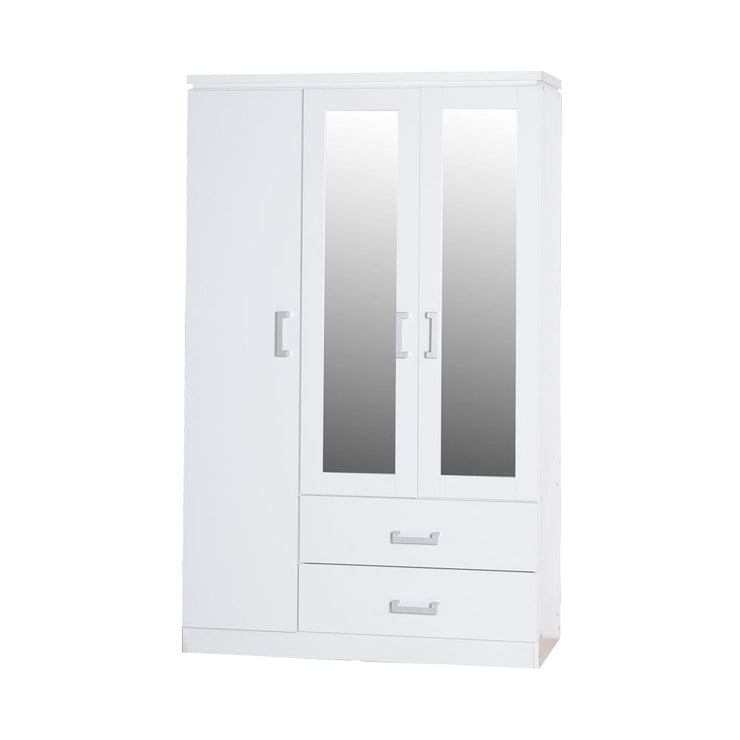 Marina 3 Door Mirrored Wardrobe - Furniture Maxi