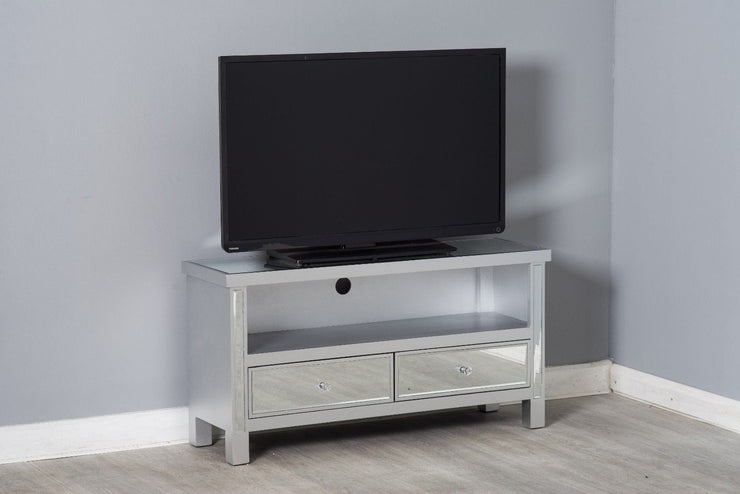 Glamour Mirrored TV Unit Stand - Furniture Maxi
