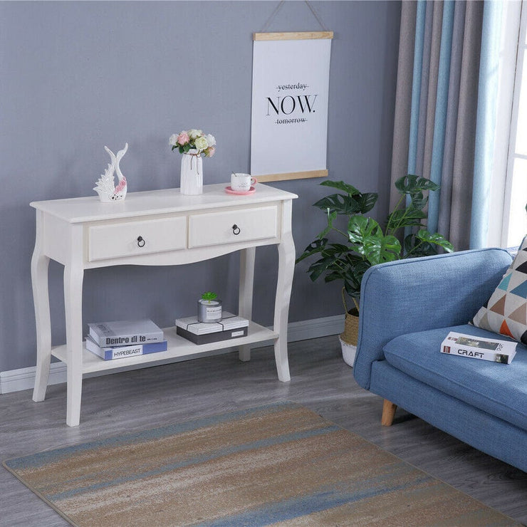 Modern White Console Table Side Table - Furniture Maxi