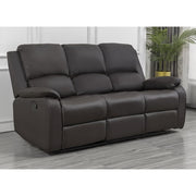Palermo Brown Leather 3 Seater Recliner Sofa