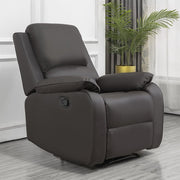 Palermo Brown Leather Recliner Armchair